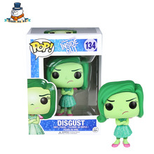 [QuanPaPa] Genuine Original FunKo POP Inside Out Disgust 134 Model Action Figure doll car Decoration kids toys