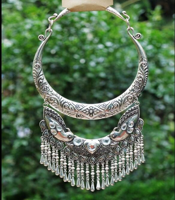 National style original Miao silver retro jewelry necklace style national каталог