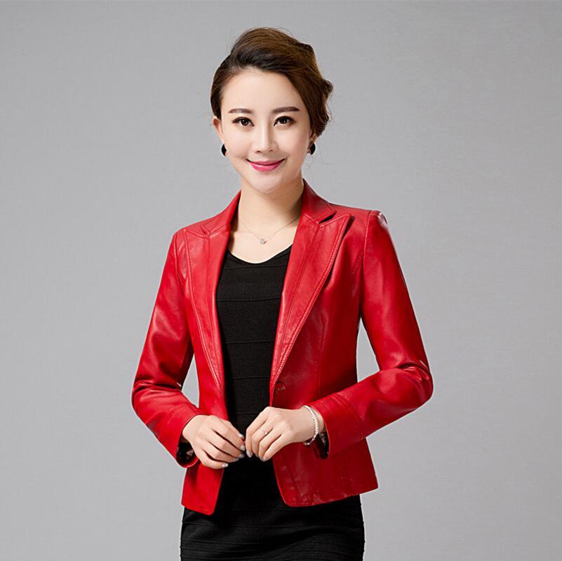 Новый Женская Мода Куртки Досуг плюс Размеры кожаная куртка мотоцикла Для женщин краткое пункт Для женщин S Кожаные куртки и Пальто для буду... ...