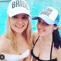 Noiva a ser noiva da equipe Bachelorette chapéus mulheres de casamento Preparewear Trucker Caps Neon branco de malha de verão frete grátis