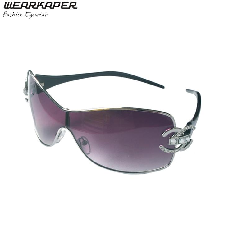 Acheter WEARKAPER Marque Designer De Luxe lunettes de Soleil Sans Monture  Femmes Avec Diamant Logo Lunettes ... 10430c08e121