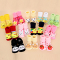 Boy Girl Unisex Skid Rubber Sole Socks Baby Anti Slip Newborn 0-18Month Cotton Lovely Cute Shoes Animal Cartoon Slippers Boots