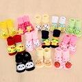 Niño niña Unisex antideslizante suela de goma calcetines antideslizantes calcetines del bebé recién nacido 0-18 meses algodón encantadores zapatos lindos Animal de la historieta zapatillas botas