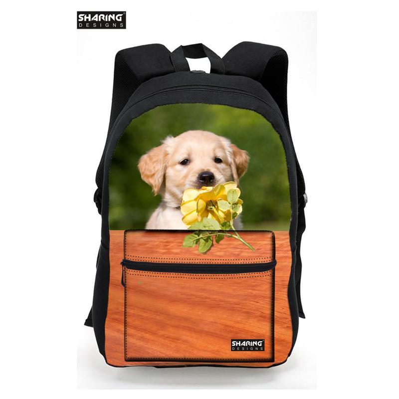 Brand Design Animal Dog Cat Backpack for Teenager Girls Fashion Children School Backpack Cute Dog Tourism