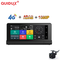 QUIDUX New 3G/4G Car DVR Dash Camera 6.86 Car Truck GPS Navigation Android 5.1 GPS Navigator FHD 1080P Dual Lens ADAS