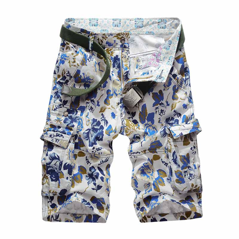 86 New Summer Mens Camouflage Cargo Beach Shorts Cotton Men Military Casual Short Trousers Multi-Pockets Mens Shorts No Belt