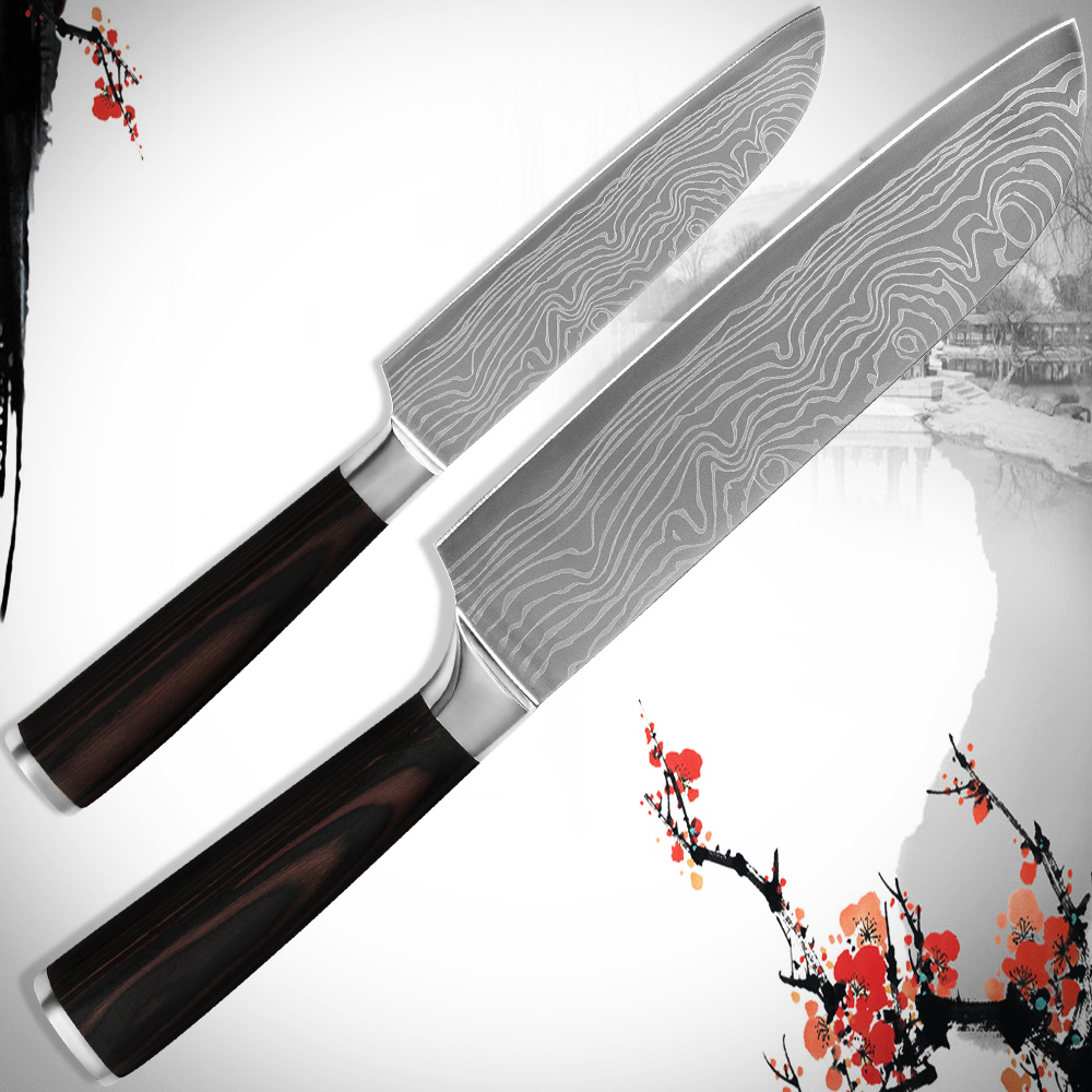 hot santoku 5 inch 7 7 inch stainless steel