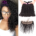 Ear To Ear 13x4 Lace Frontal Closure With Bundles No Shedding Malaysian Water Wave Virgin Hair With Frontal Free Shipping