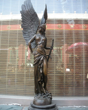 wholesale factory 25Classic Art Bronze Marble Statue Greek goddess of Athena warrior