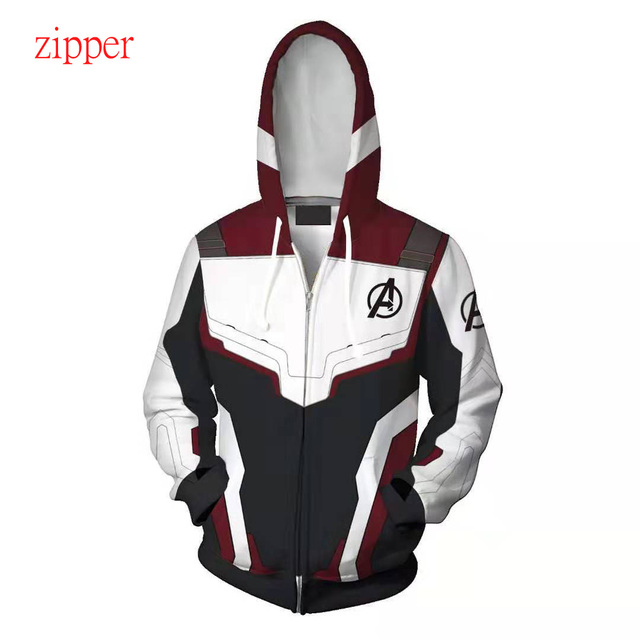 DLF 2-20Y The Avengers 4 Quantum Realm 3D Jacket Zipper End Game Cosplay Hoodies Iron Hooded Boys American Captain Sweatshirt
