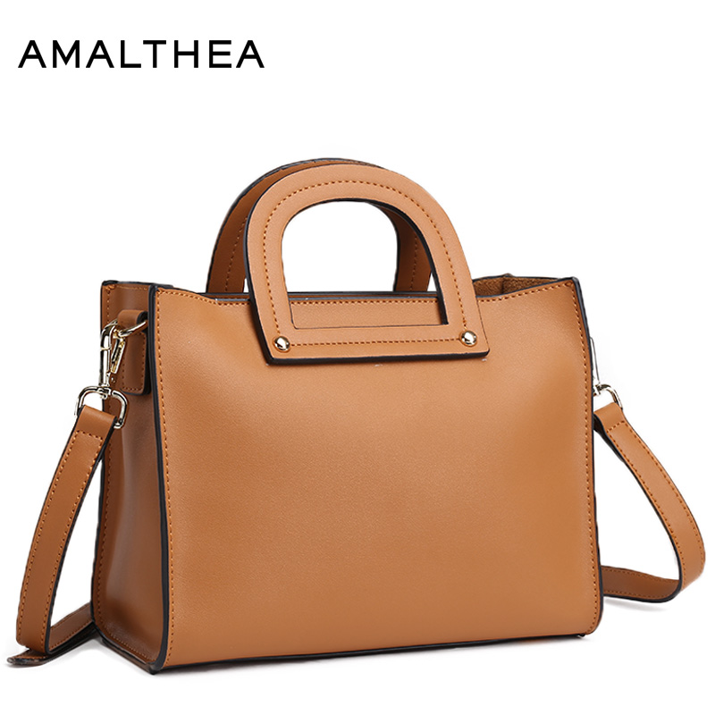 цена на AMALTHEA Brand Fashion Handbag Split Leather Casual Tote Composite Bag Red Crossbody Bags For Women Shoulder Ladies Bags AMAS014