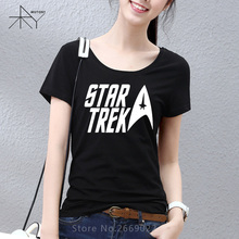 2017 New classic movie Star trek Printed Women T Shirt Tshirt Fashion Short Sleeve O Neck Cotton T-shirt Tee Camisetas Lady