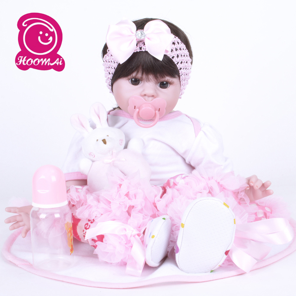 Reborn 55CM Soft Cotto Body Reborn Baby Doll Toys Big Dolls For Girls 3-7 Years Old Baby Dolls With Princess ClothReborn 55CM Soft Cotto Body Reborn Baby Doll Toys Big Dolls For Girls 3-7 Years Old Baby Dolls With Princess Cloth