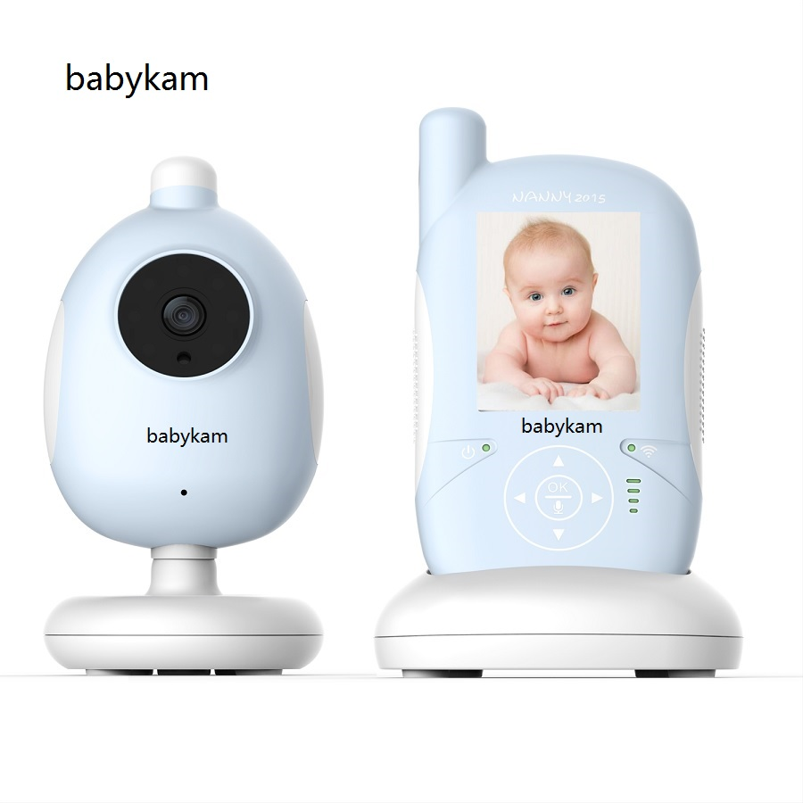 Babykam video nanny baby monitors 2.4 inch LCD IR Night vision Lullabies Temperature Monitor 2 way talk baby monitor babysitter baby sleeping monitor night vision 2 way talk lullaby temperature monitor 2 4 inch lcd digital wireless nanny radio babysitter