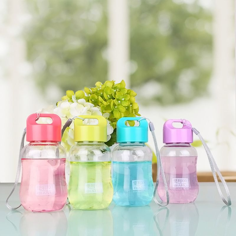 VFGTERTE 180Ml Plastic Water Bottle with Lid Rope Mini Cute Cartoon Bottle For Children Kids Portable Small Drinking Bottle|Water Bottles|   - AliExpress