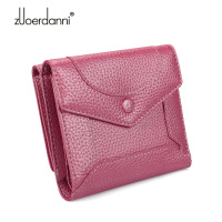Girls Lovely Thin Genuine Leather Wallets Ladies Mini Purse Female Short Wallet Womens Card Coin Holder Togo Leather Wallets