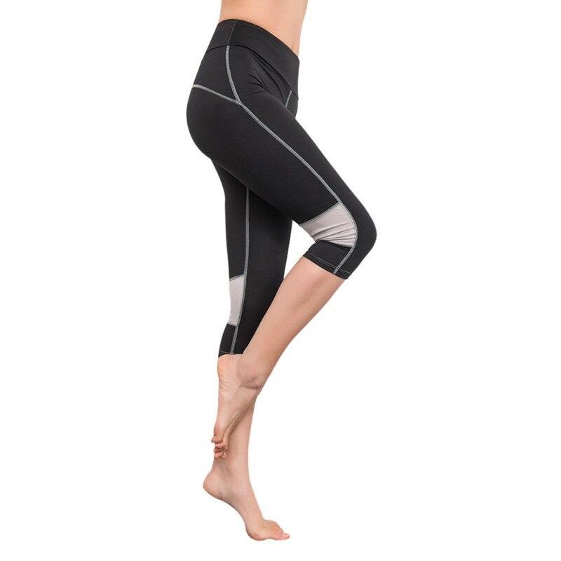 2018 Lady Women Sports Leggings Capris Fitness Running Gym Legging Yoga Cropped Pants High Elastic Slim Stretch Workout Pants