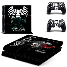 Venom PS4 Full Faceplates Skin Console & Controller Decal Stickers for Sony PlayStation 4 Console and Two Controller