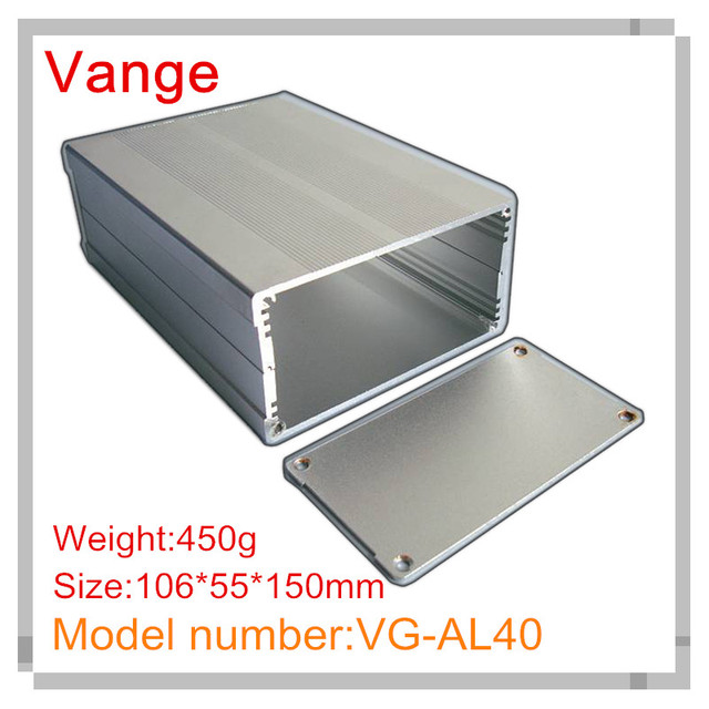 1pcs/lot silvery/black sand blasting aluminum diy enclosure 6063-T5 aluminum box 106*55*150mm for communication equipment