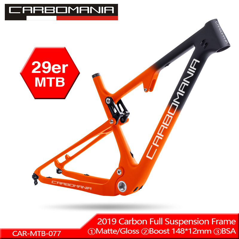 Bike-Frame BMX Mountain-Bikes Carbon-Fiber-Suspension Downhill 29er Mtb Thru 12mm Axle