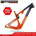 Полная карбоновая подвеска велосипедная рама 29er <font><b>MTB</b></font> через ось 12 мм карбоновая подвеска BMX горные велосипеды горные велосипедные рамы 2019