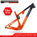 Full Carbon Suspension bike Frame 29er MTB Steekas 12mm Carbon Fiber Suspension BMX mountainbikes Downhill fiets frame 2019