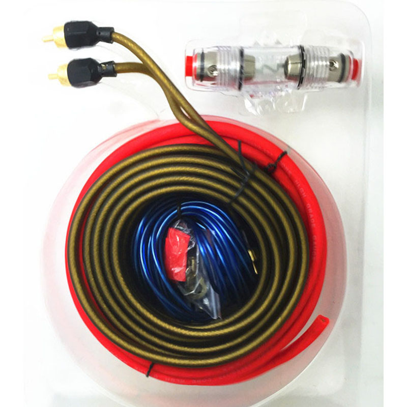 60 amp fuse holder installation kit 8ga power cable 1500w wiring amplifier car audio wire. Black Bedroom Furniture Sets. Home Design Ideas