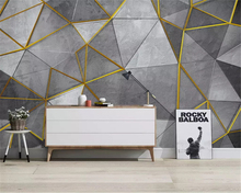 beibehang Custom fashion papel de parede 3d wallpaper Nordic retro nostalgic abstract geometric triangle mural TV background