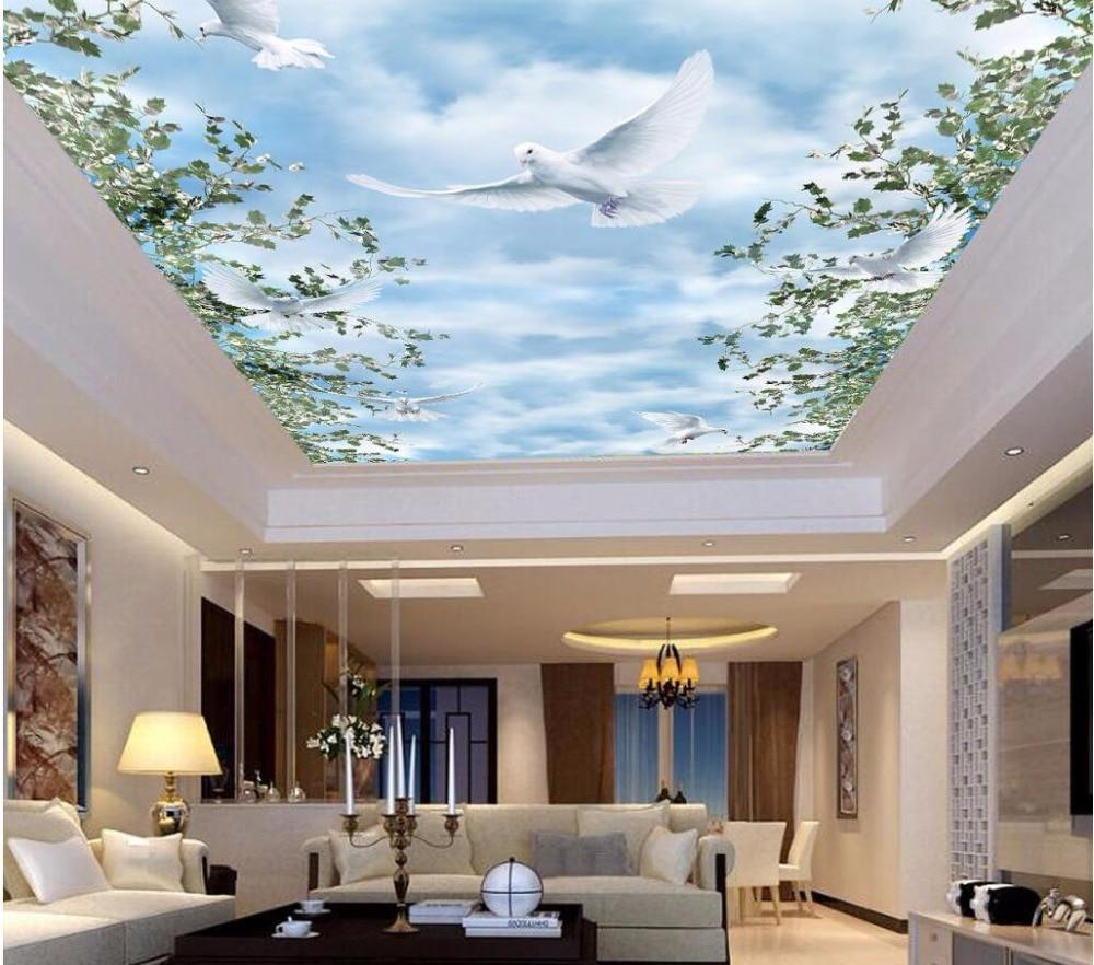 3d Dinding Mural Wallpaper Untuk Dinding 3 D Mural Langit Langit