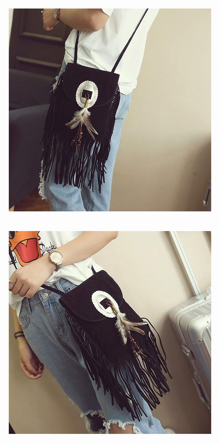 Female Small suede Bag Brown Beaded Feathers Hippie American Indian Tribal Bohemian Boho Chic Ibiza Style Pouch Bag (26)