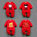 Funny Chicken Year Baby Boys Girls Costume Clothing Long Sleeve Thick Baby Jumpsuits Romper Chinese New Year Infant Onesie suits