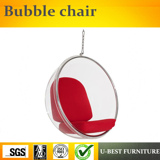 U BEST High Quality Leisure Transparent Replica Large Ball Clear Hanging  Acrylic Bubble Chair