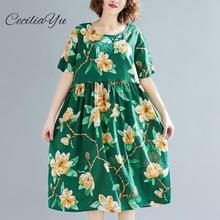 2009 Summer Dress For Women New Fashion Big Size Female Dresses Bubble Cotton Flower Dome Collar Short Sleeve Dresses Ceciliayu chicever knitted irregular summer dress female short sleeve perspective hit colors loose big size black dresses for women new