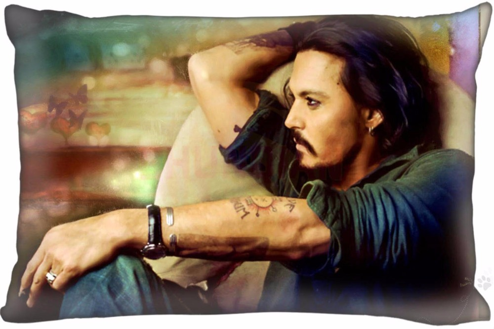 Lu Durable Johnny Depp Pillowcase Custom Pillow Cover 35x45one Side