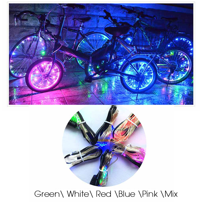 Us 399 32 Off20 Led Kolorowe świecące Wodoodporne światła Rowerowe Rower Koła Szprychy światła Nocna Jazda Na Rowerze światła Bezpieczeństwa