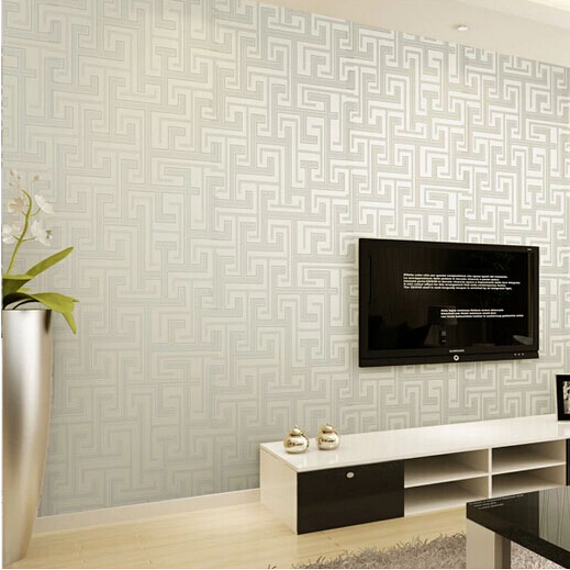 Wall paper designs for bedrooms white wooden bedding and - Papel de pared moderno ...