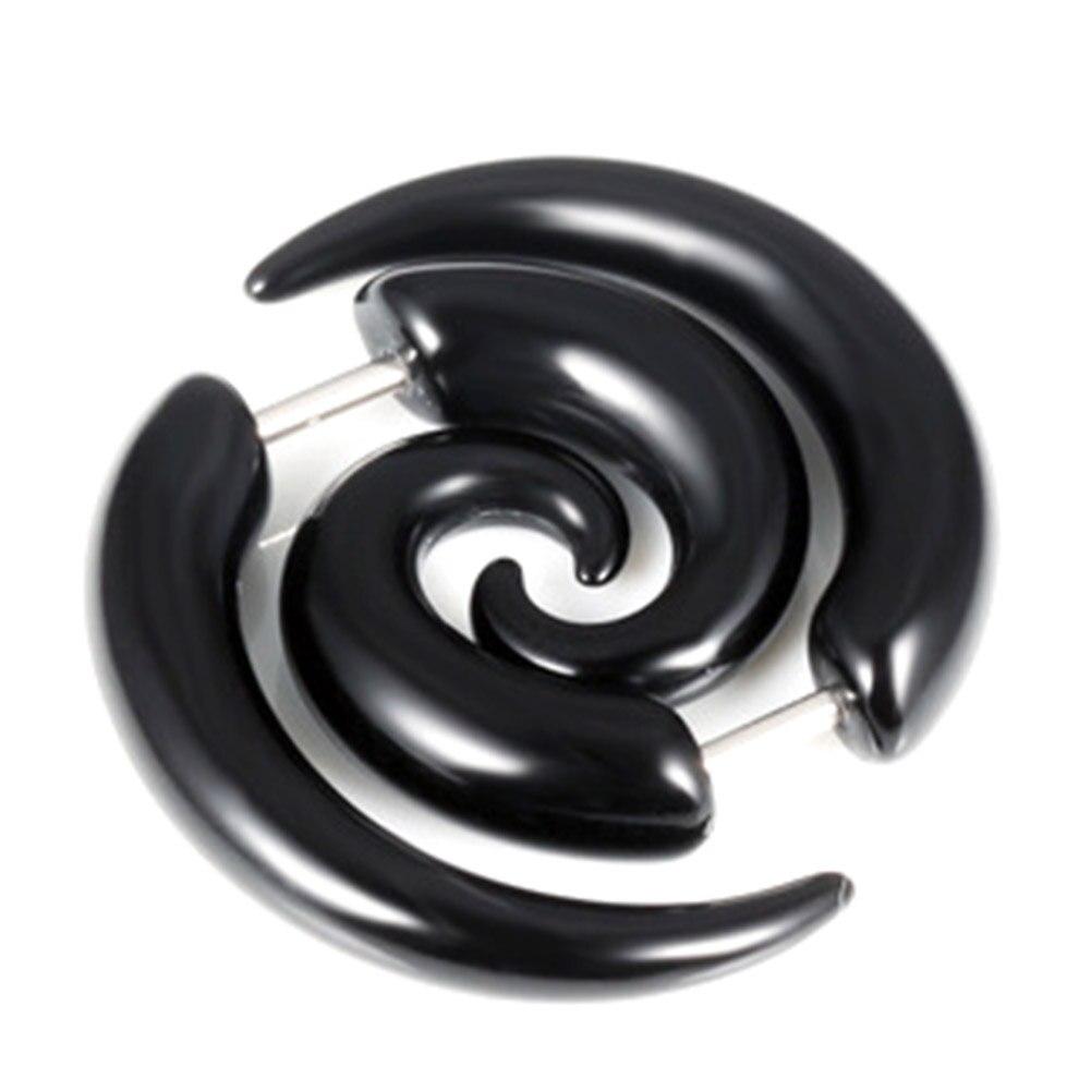 Fashion Jewelry Man Stud Earrings snail stainless steel Earring for men women punk mens black earings free shipping
