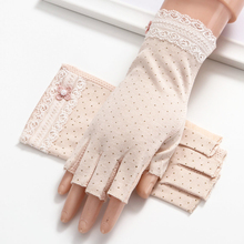Women'S Cotton Half Finger Gloves Exposed Summer Sunscreen Thin Section Work Driving Non-Slip Gloves TBFS07 olson deepak half pigskin and half canvas transport factory driving gardening barbecue protective work gloves hy031free shipping