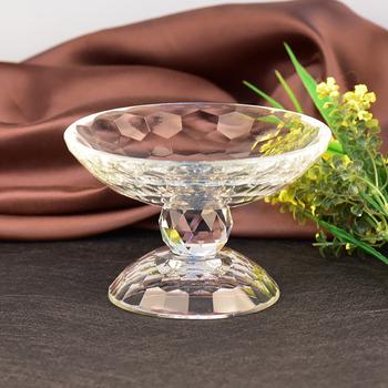 Dekoracja kryształowa szklana taca na owoce artykuły gospodarstwa domowego szkło moda kreatywne jasne pełne okazałe cukierki świąteczne prezenty tanie i dobre opinie HUADA LANGXUAN Piramida Europa