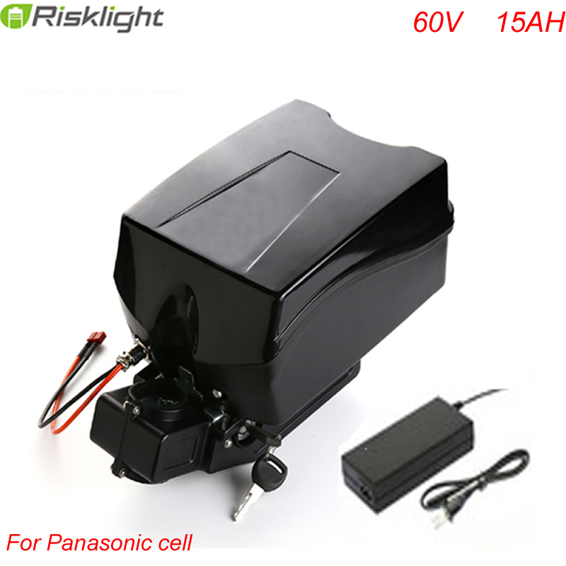 Free customs taxes frog case ebike battery 60v 15ah lithium ion battery with charger and bms For Panasonic Cell ebike 24v 52 2ah lithium battery frame triangle li ion battery for pa ncr18650pf cell with free bms and 5a charger