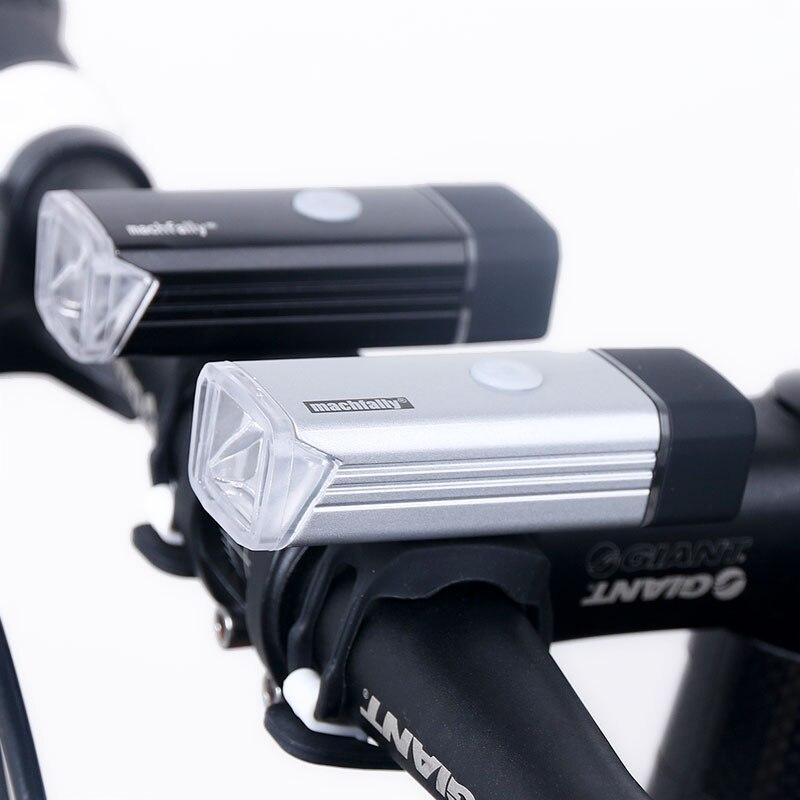Luz da Frente da bicicleta USB Recarregável de Alta Potência Lanterna de Iluminação da Lâmpada de Cabeça LED Guiador Da Bicicleta Ciclismo Lanterna 800 mAH