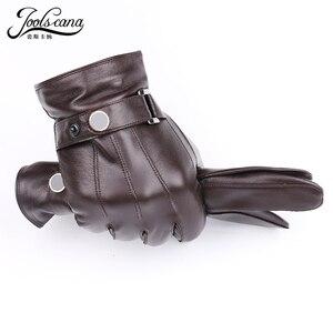 Image 2 - JOOLSCANA top1gloves người đàn ông da chính hãng mùa đông Cảm Giác chiến thuật găng tay găng tay thời trang cổ tay màn hình cảm ứng ổ đĩa mùa thu chất lượng tốt