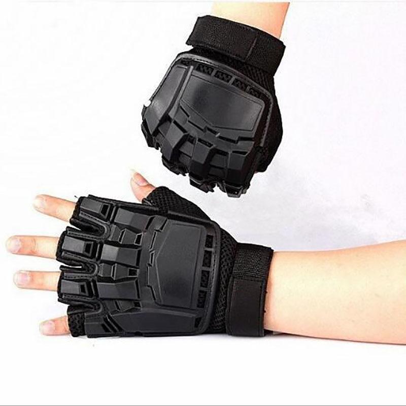 MOTRAVEL Motorcykelhandske Skydda Händer Halv Finger Läder Andas - Motorcykel tillbehör och delar