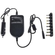 Универсальное 80 Вт DC Автомобильное зарядное устройство адаптер для ноутбука Регулируемый светодиодный автоматический источник питания комплект+ 8 съемные заглушки зарядное устройство для компьютера