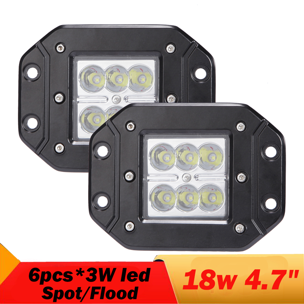 18W 5Inch Spot Flood Led Work Light Driving Fog Lamp 4X4 4WD Offroad BUS Truck Boat light bar For Jeep liberty IP68
