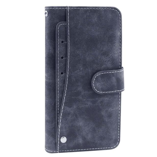 "Leather Wallet AGM A10 Case 5.7"" Flip  Fashion Luxury Front Card Slots Cases Cover Business Magnetic Phone Bags"