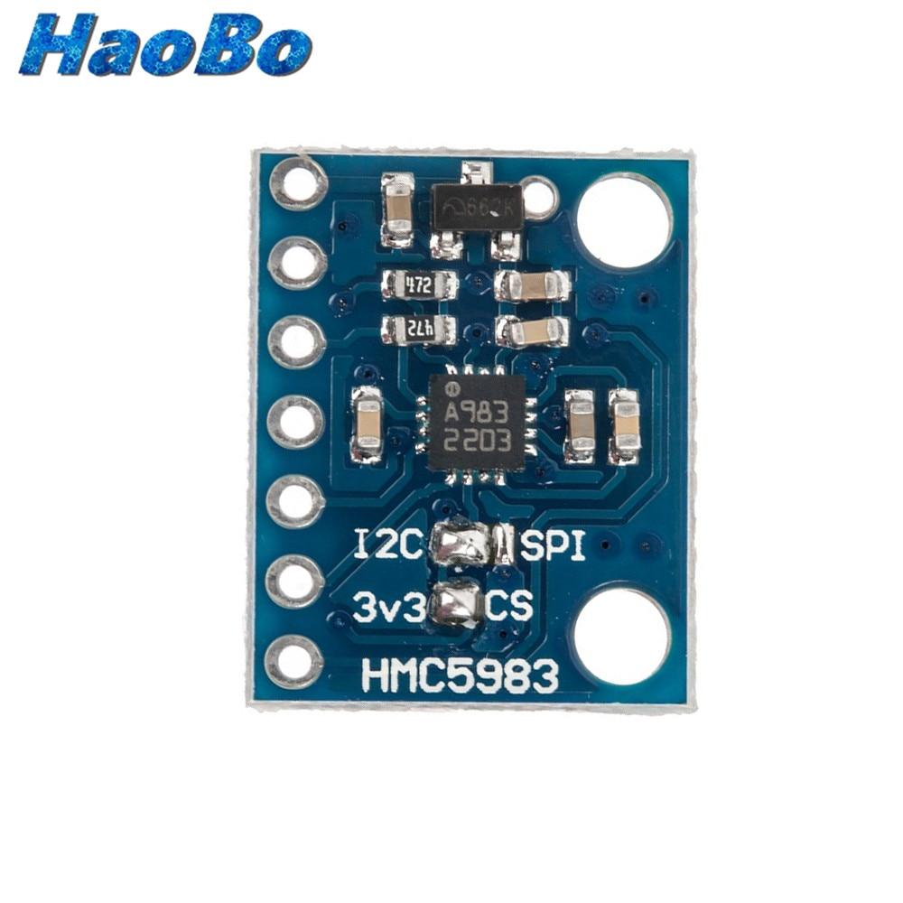 5PCS HMC5983 temperature compensation triaxial compass IIC//SPI replace HMC5883L