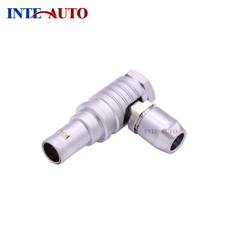 IP50 connector,Metal push pull self-locking <font><b>12</b></font> <font><b>pins</b></font> <font><b>cable</b></font> connector, elbow 90 degree plug ,THG.2B.312 image