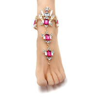 Fashion 2017 Anklet Bracelet Bohemia Barefoot Sandals Beach Foot Jewelry Sexy foot Chain Female Boho Crystal Anklet for women