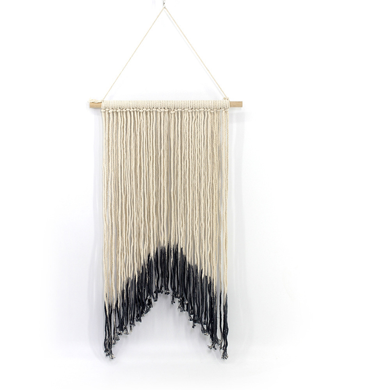 Dip Dyed Yarn Wall Hanging Tapestry Macrame Wedding Decorative Large Hanging Tapestry Backdrop Home Bedroom Decoration(China)